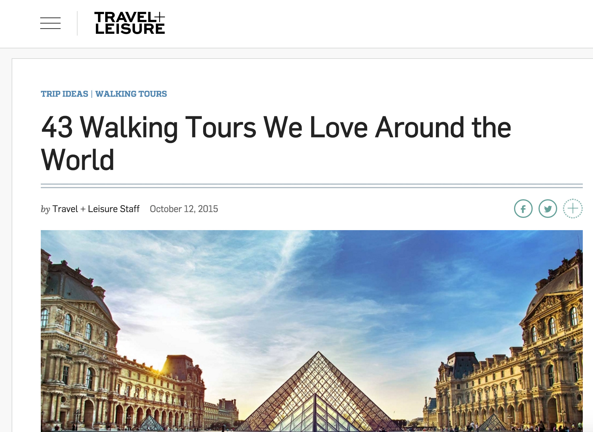 Travel & Leisure - Travel & Leisure named Amsterdam Photosafari as one of the best walking tours IN THE WORLD!