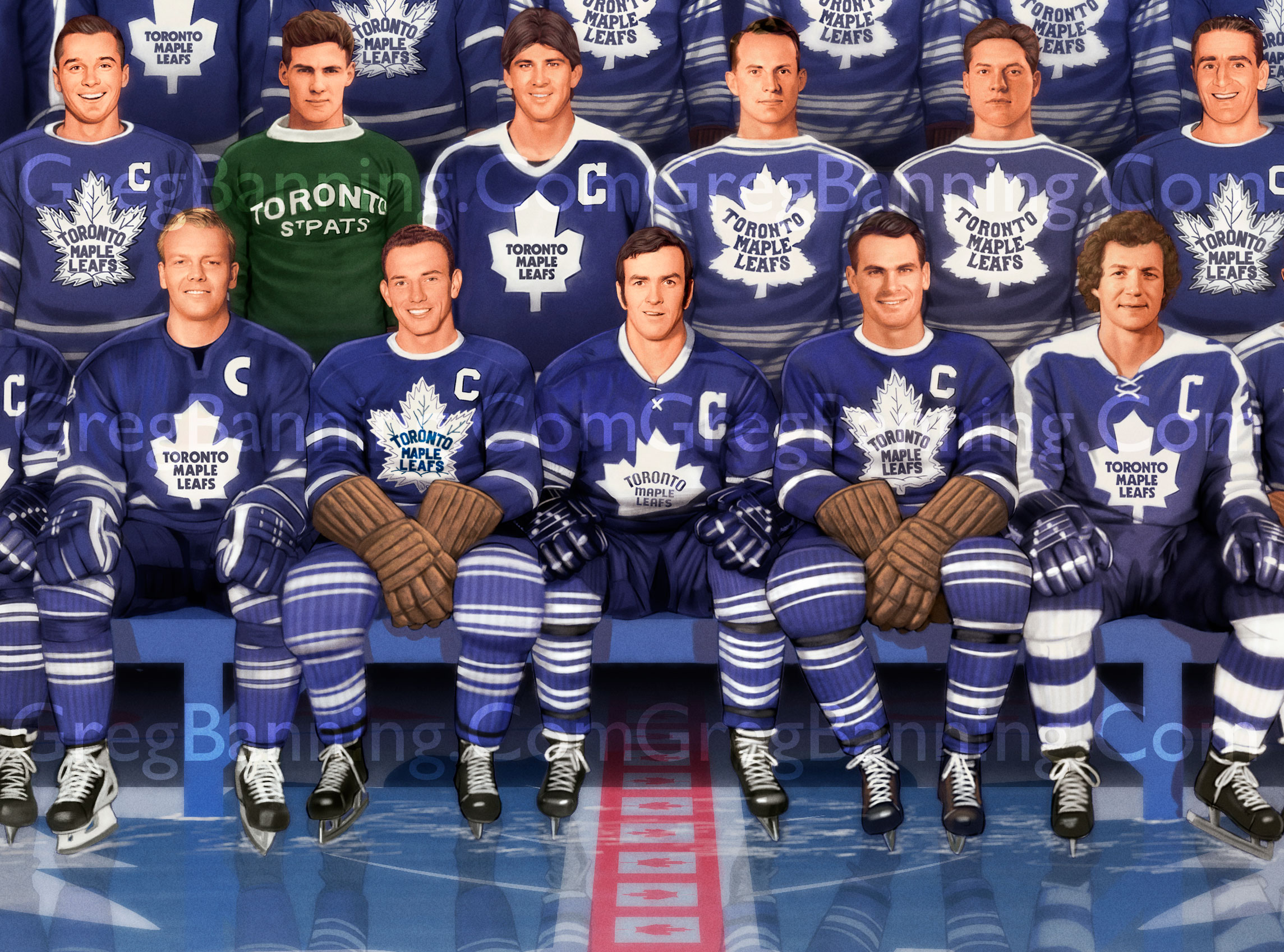 Toronto Maple Leaf Centennial Poster Detail