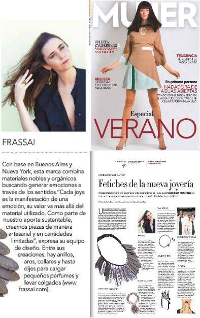 FRASSAÏ feature in Clarín Mujer