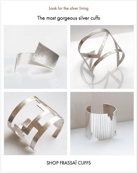 Frassaï silver cuff collection