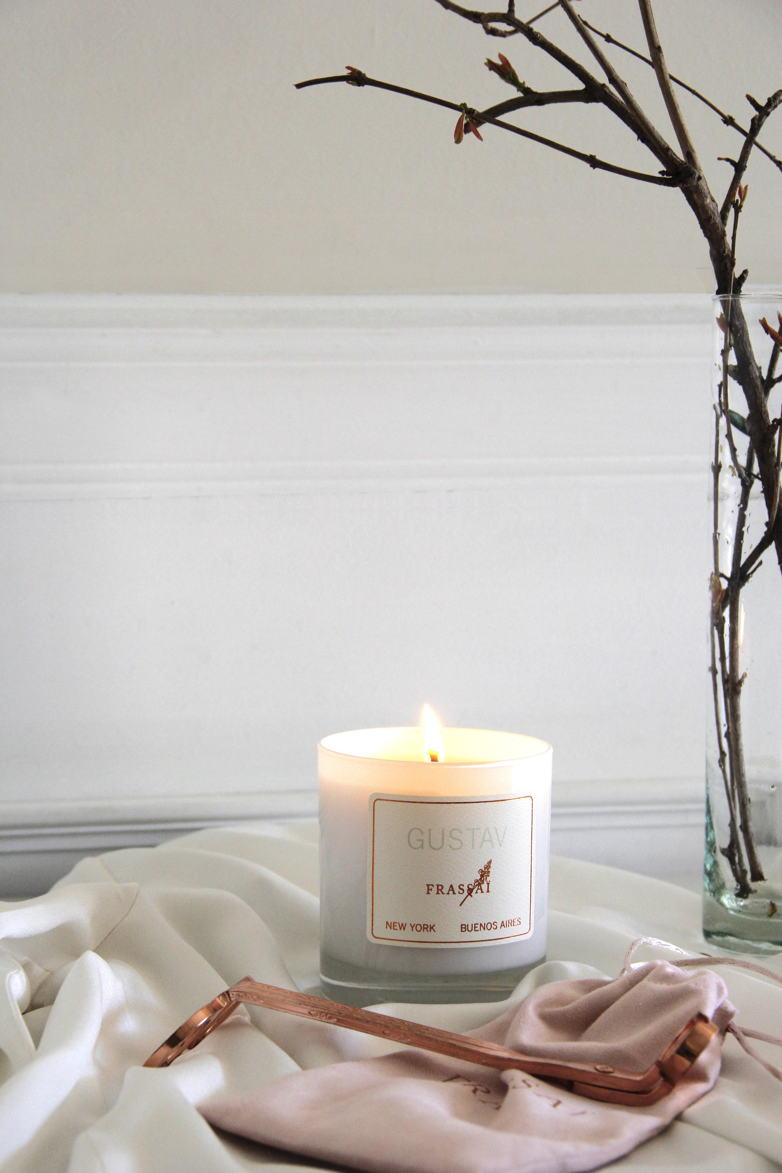 Luxury Candles FRASSAI Gustav scented candle. Photo: Gigi Martino