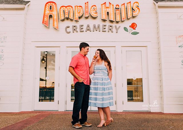 Yesterday's session with Lauren + Don was sweet in every way. 🍦✨ When Lauren was 15, she stated that she wanted to marry Don. Fast forward to today: they've been married for eight years and still seem like newlyweds.  Our evening was filled with ice cream, laughter, and sharing stories. They were a joy to photograph and I can't wait to share more.  And shoutout to Lauren's impeccable style and Disney themed makeup- Belle lipstick and Chip eye shadow. 😉  #emilywakerphotography #disney #disneysboardwalk