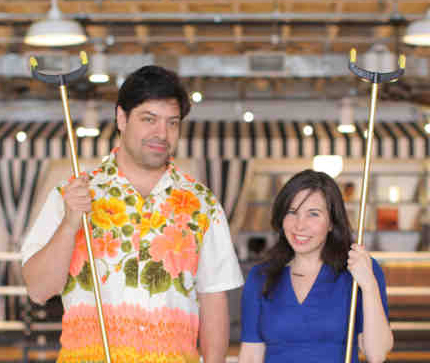 Ashley Albert and Jonathan Schnap  Royal Palms, already a premier destination, is a shuffleboard hospitality concept that launched their first venue in Gowanus Brooklyn less than a year ago. Ashley and Jonathan formed the concept in between tech consulting, singing in a children's band, and making jewelry. They have plans to bring shuffleboard to all of the US.