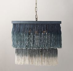 Ombre String Tiered Pendant Blue $299
