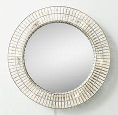 Illuminated Crystal Large Round Mirror $899