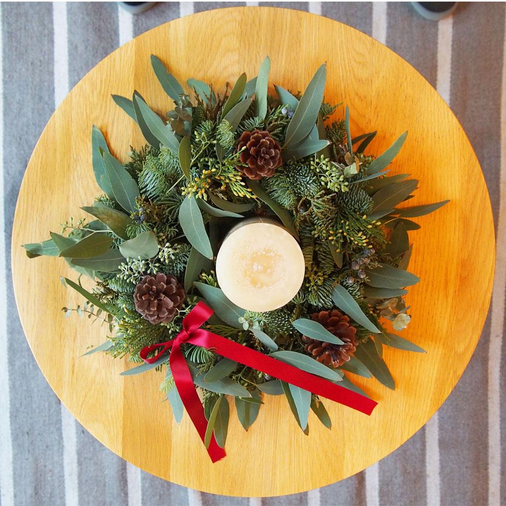 Christmas Candle Wreath