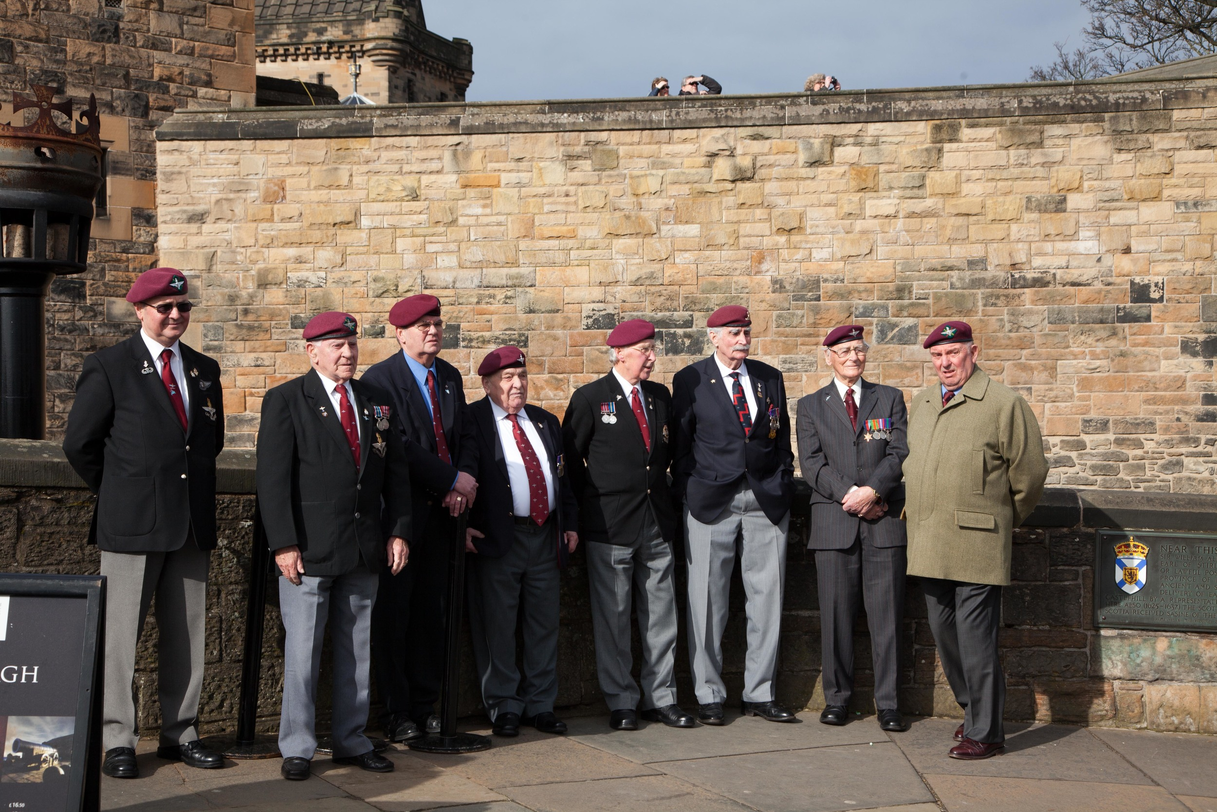 Some WWII veterans chillin in front of the Edinburgh Castle