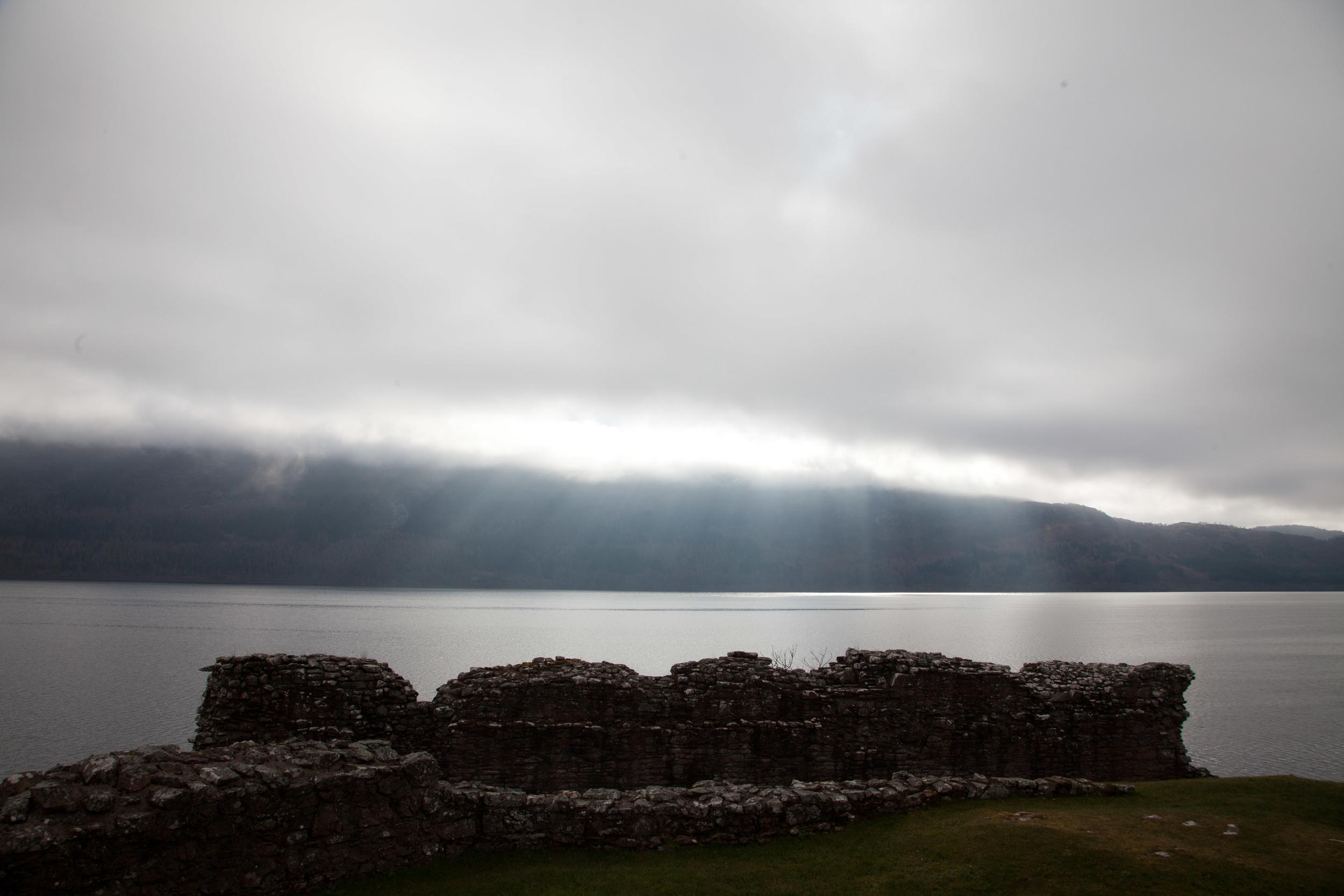 Fantastic light at Loch Ness