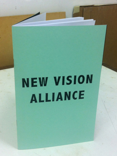 Artist Book Available   New Vision Alliance  Available at Printed Matter  Collaboration with Fritz Welch 2012  Artist Book 25 collaborative collages  $12
