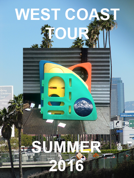 West Coast Tour  June 13 - July 13, 2016   More details can be found here