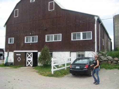 Amanda Steele outside the Pride Stables barn.