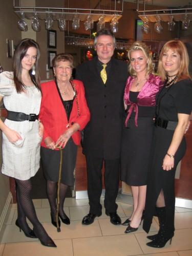 The Steele family: Jennifer, Agnes, Michael, Amanda, Laura