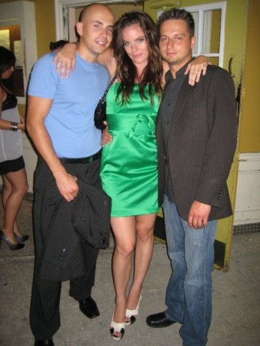 Jennifer Steele and promoters, Peter and Mike