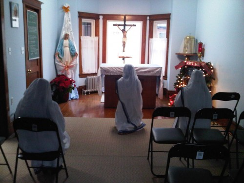 Inside Missionaries of Charity in downtown Toronto. January 2013.