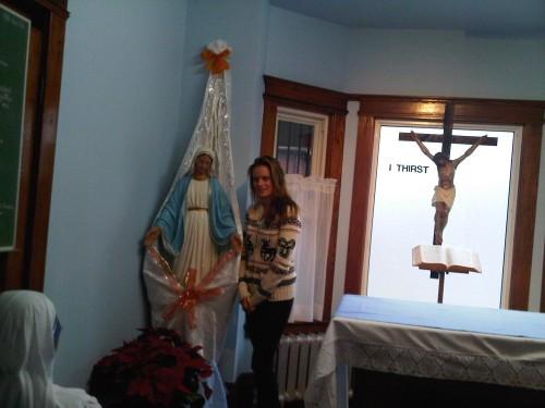 Jennifer Steele inside Missionaries of Charity. January 2013.