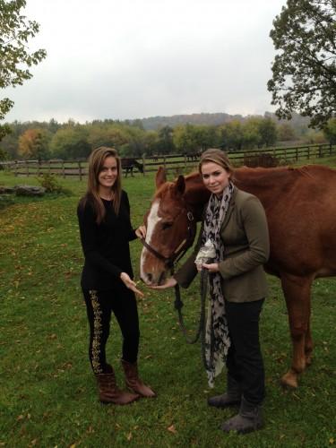 Jennifer and Amanda Steele with Pipper
