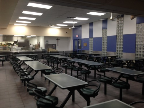Snapshot of the dining hall at Good Shepherd