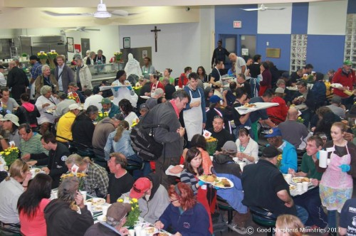 Good Shepherd cafeteria this past Thanksgiving 2013.