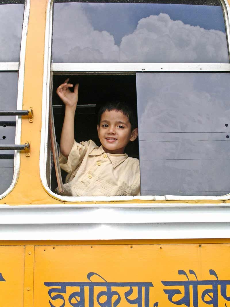 education boy school bus
