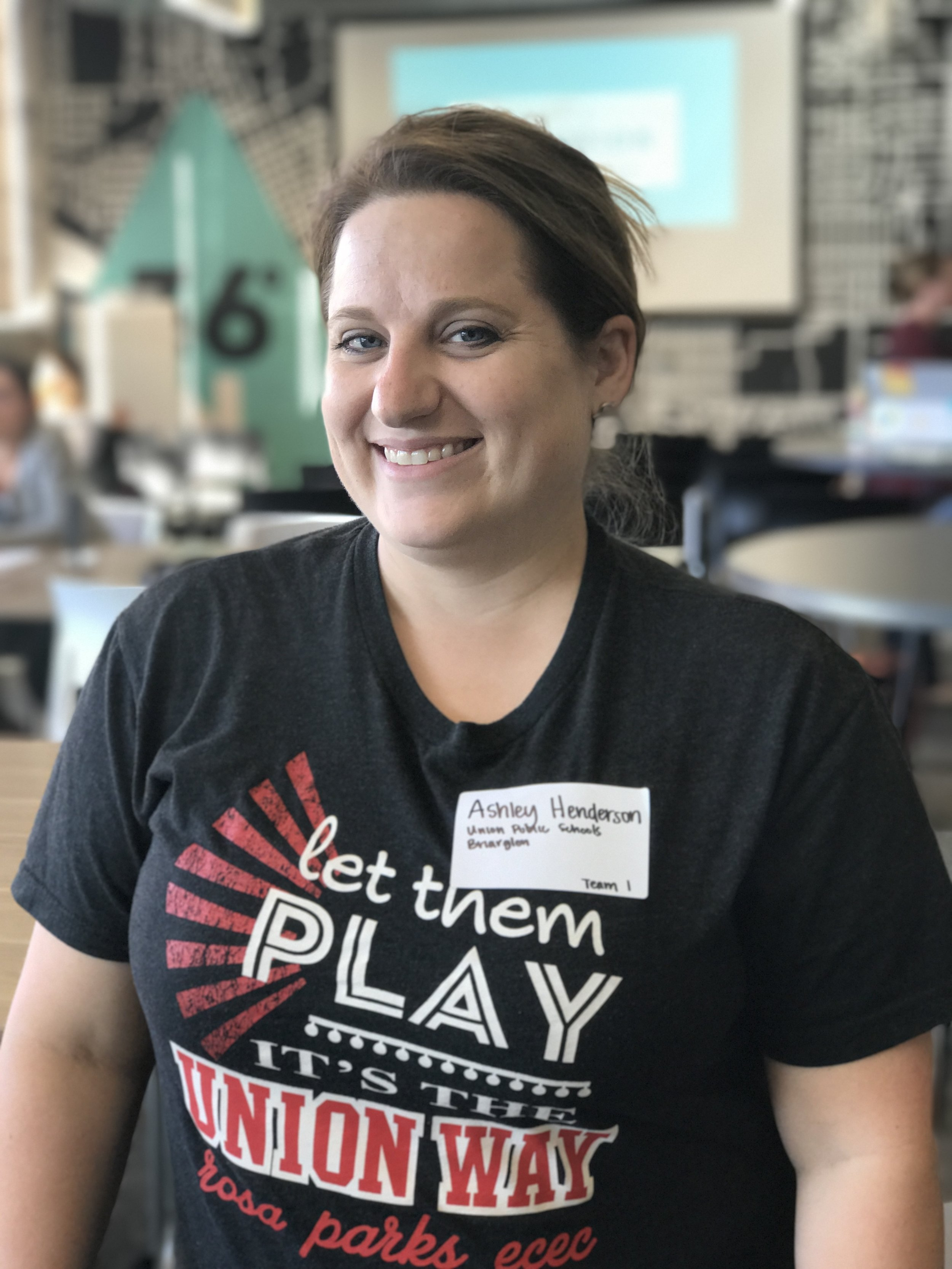 "Ashley Henderson,   Briarglen Elementary   ""It excites me to work with my teammates to research more about mental health and it's effects on the teaching staff."""