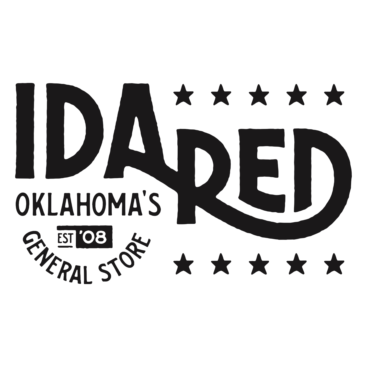 Ida Red General Store   Ida Red is not easily categorized or tamed. We have a little of this and a lot of that. We sure do love the great state of Oklahoma! Swing by one of our two locations (Brookside and Tulsa Arts District) to check out our merchandise.
