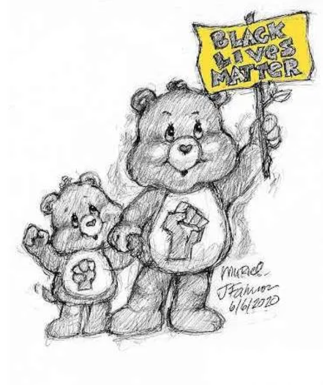 June 2020 Update - In light of recent events, Care Bears creator, Muriel Fahrion, has unveiled a Black Lives Matter Care Bears design. Once for sale, the proceeds will benefit the Reed Foundation, a Tulsa based Black founded organization that works to help at-risk youth. As the creator of the original Care Bear design, Muriel is currently fighting for the rights to release this t-shirt design for consumer purchase on RedBubble. Follow her Instagram page for updates.