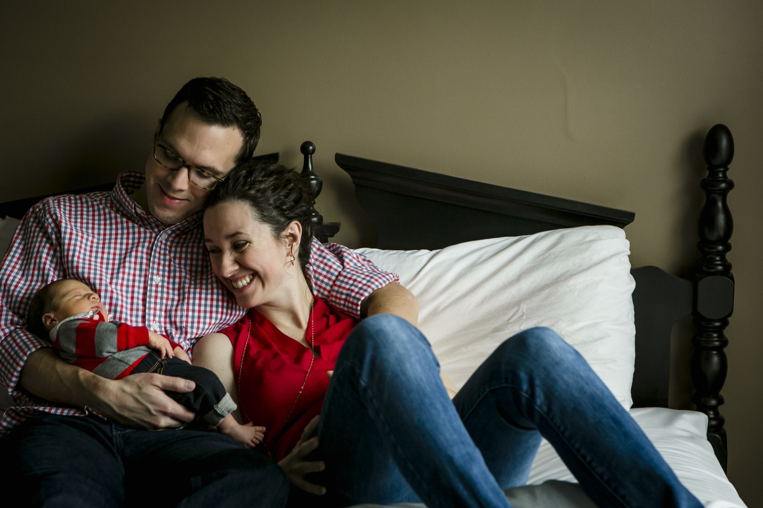 Less than two weeks after we welcomed our baby boy.Photo by  Marissa Joy Photography .