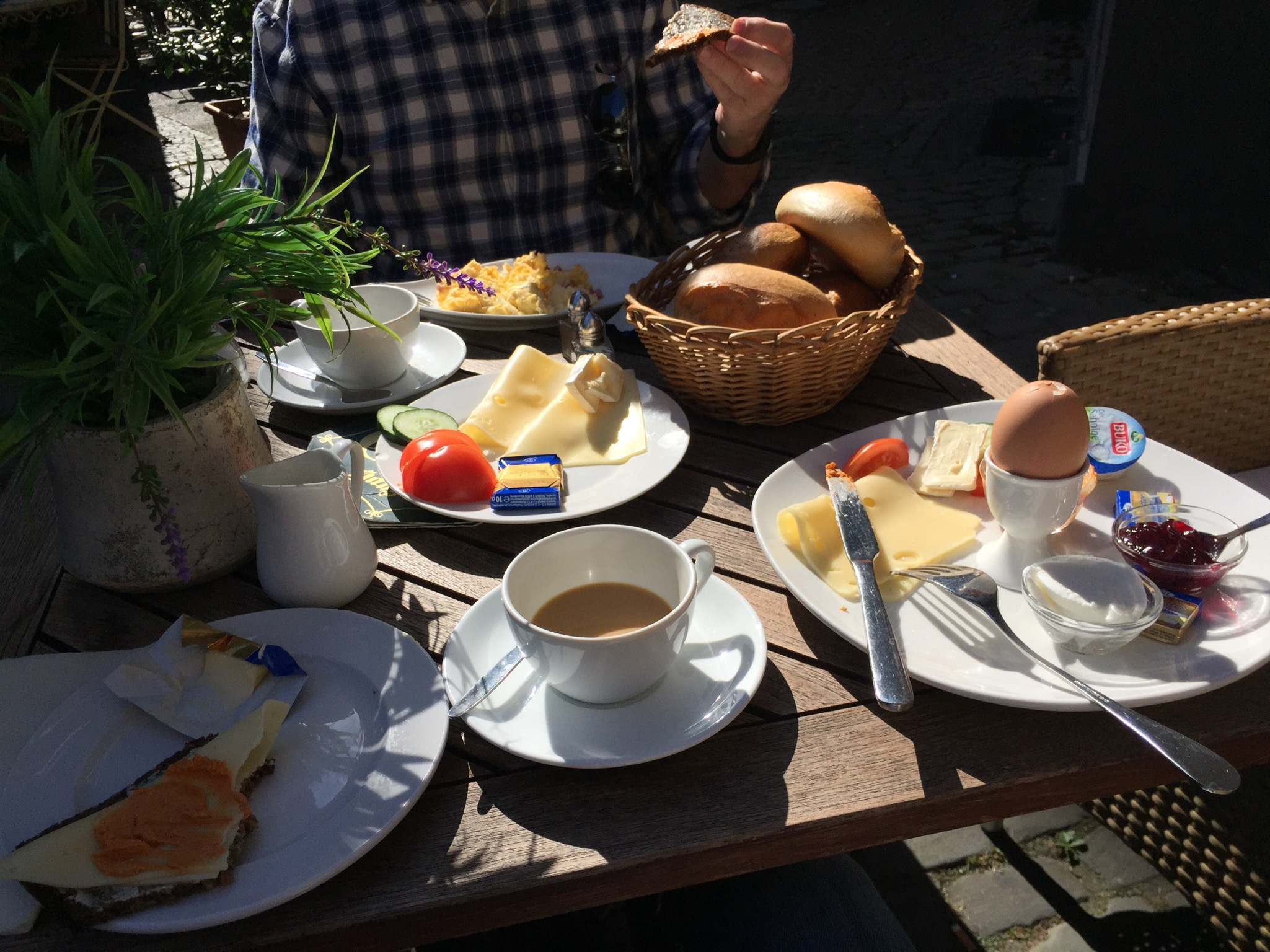 Aachener Cafe is one of our favorites for breakfast and a great cup of coffee.