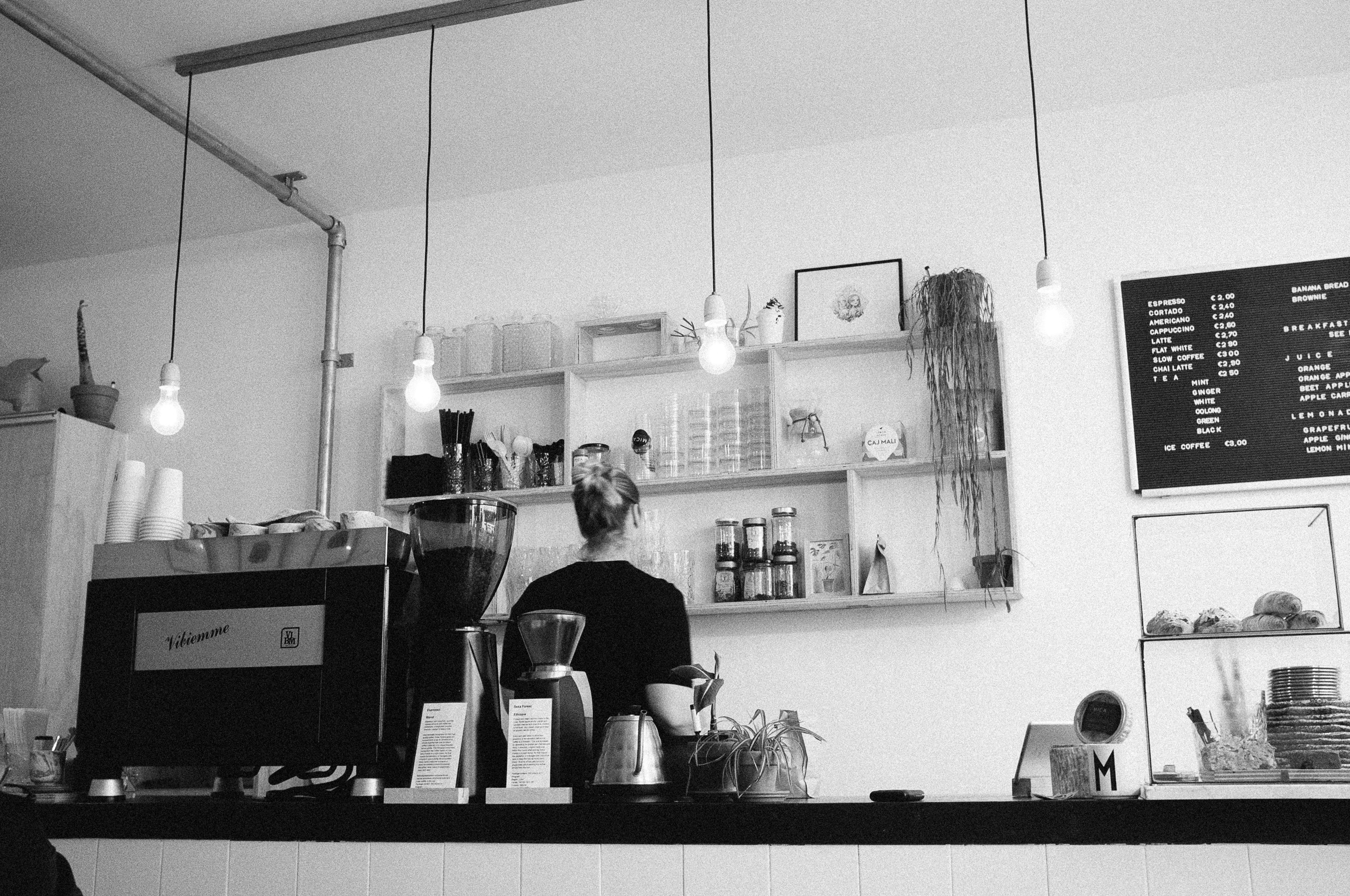 MICA Coffee Bar, Haarlem.Photo taken with Fuji X100S, edited with VSCO.