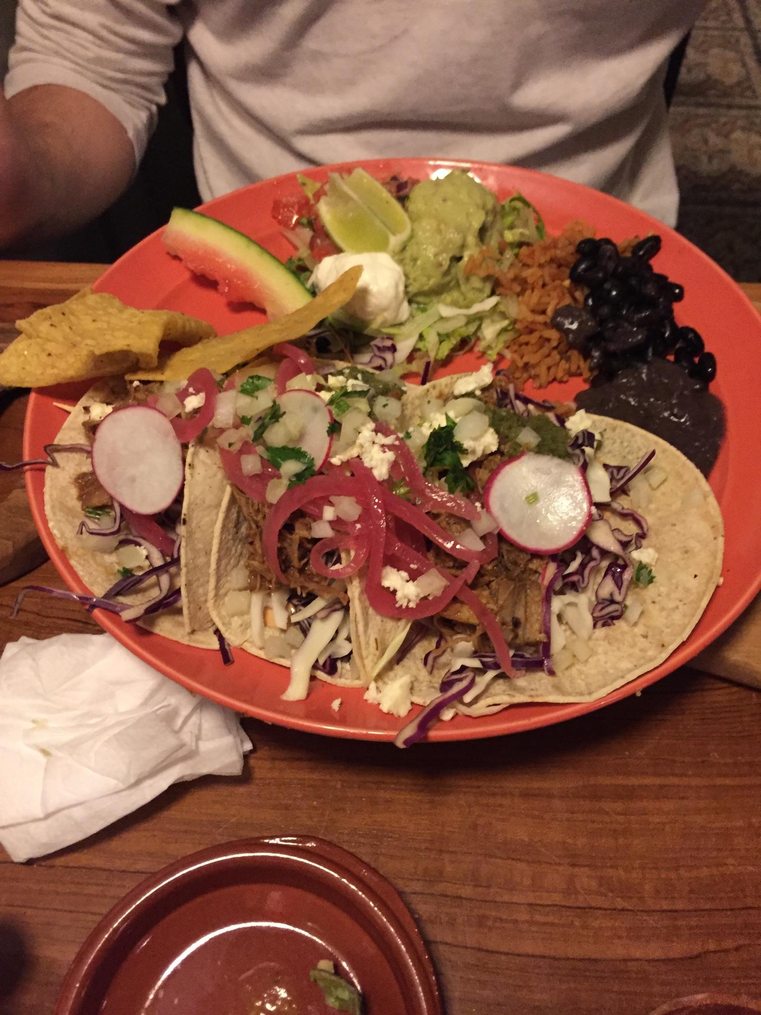 Pork tacos at Cantina 023 in Haarlem.