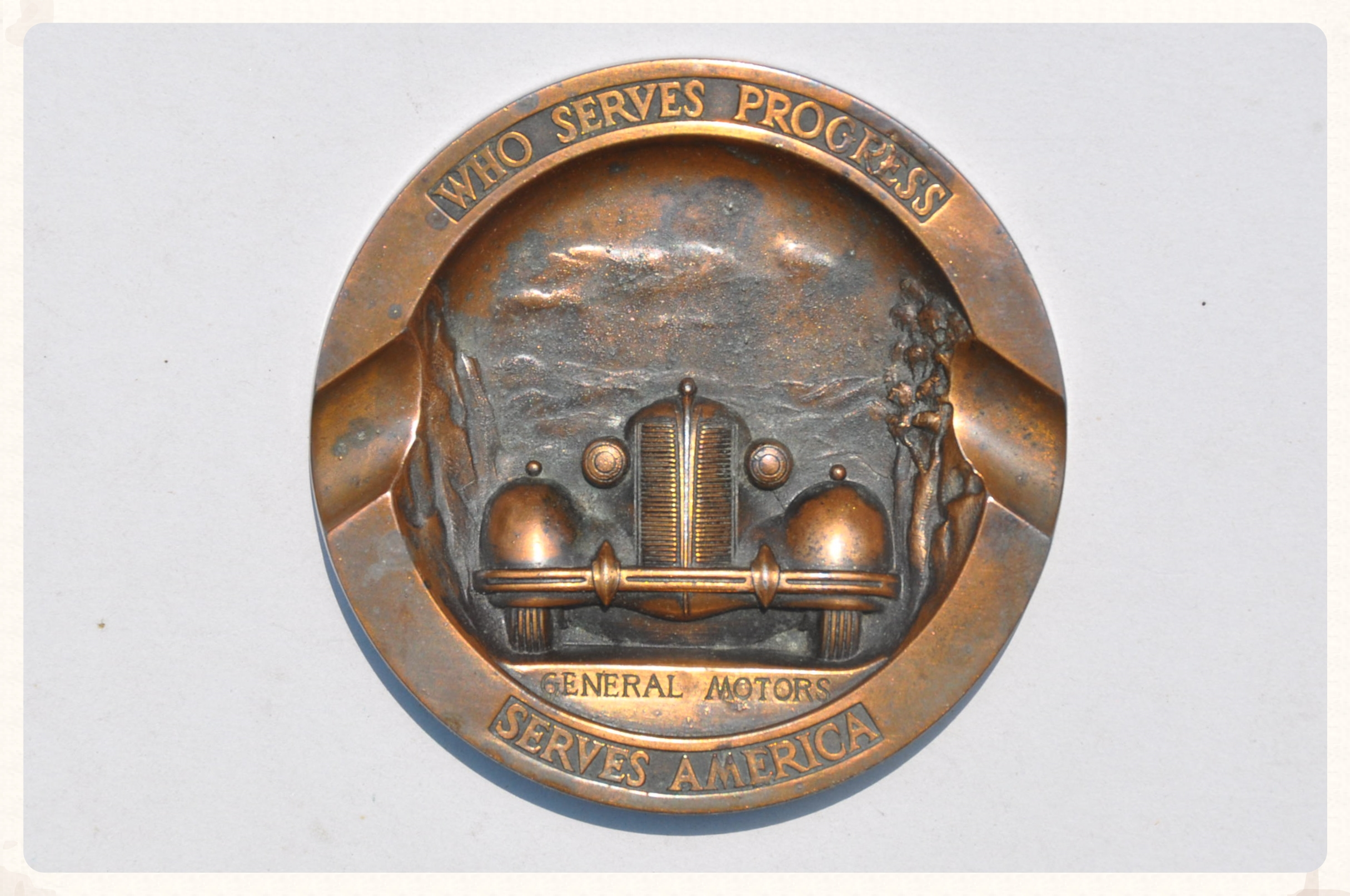 General Motors Brass Ash Tray