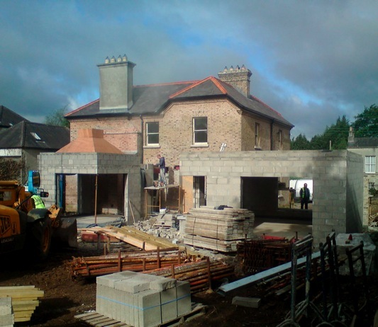 Hofler Architects - Domestic Extension Work Under Construction.