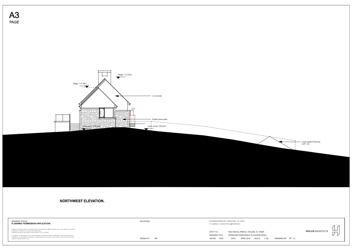 Proposed side elevation to adding field.