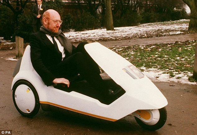 Clive Sinclair on his C5