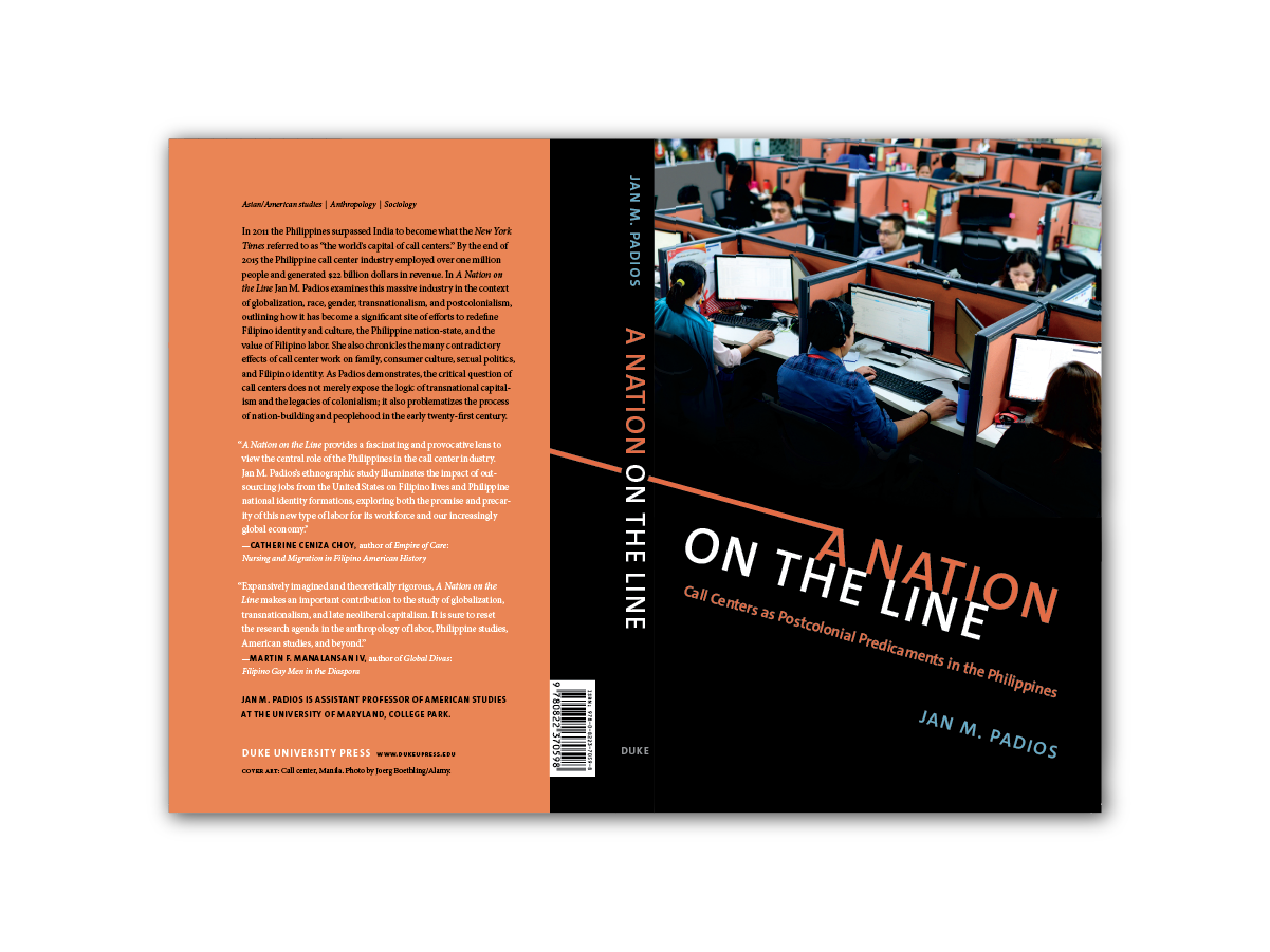 Cover Design for  Nation on the Line  [Duke Press]