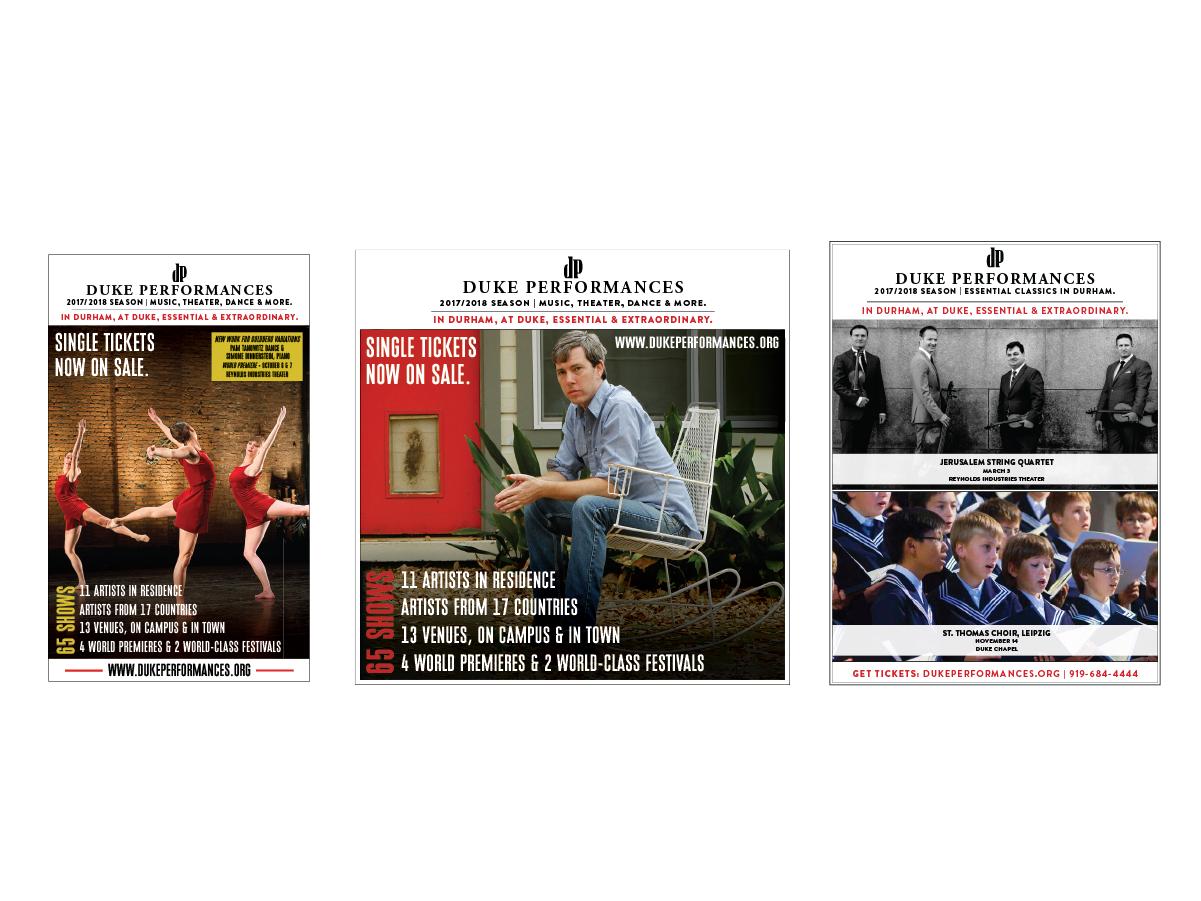 Selected ads for Duke Performances