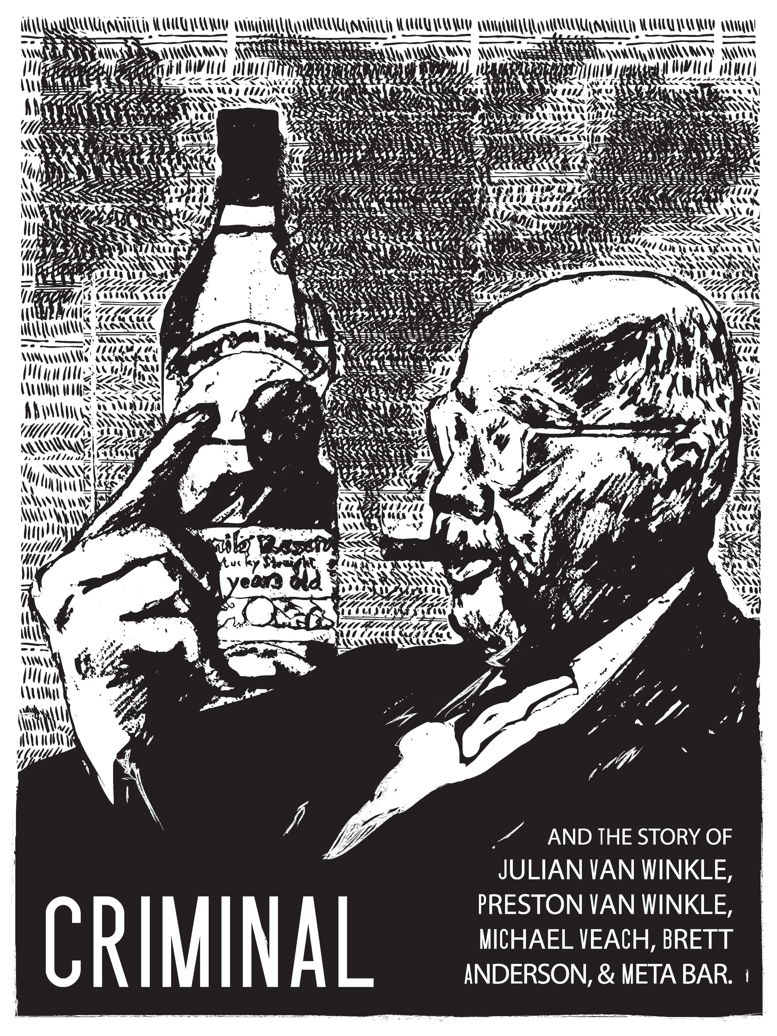 Limited Screen-printed Poster for CRIMINAL podcast