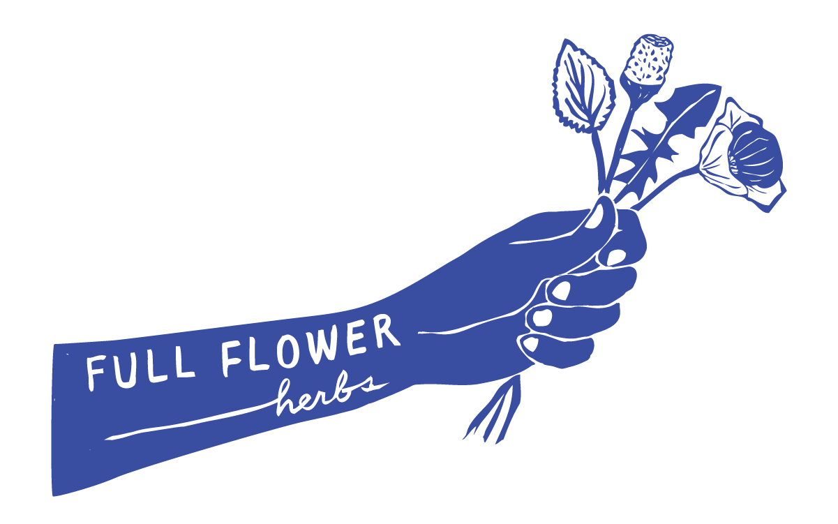 Inverted Concise Logo for Full Flower Herbs