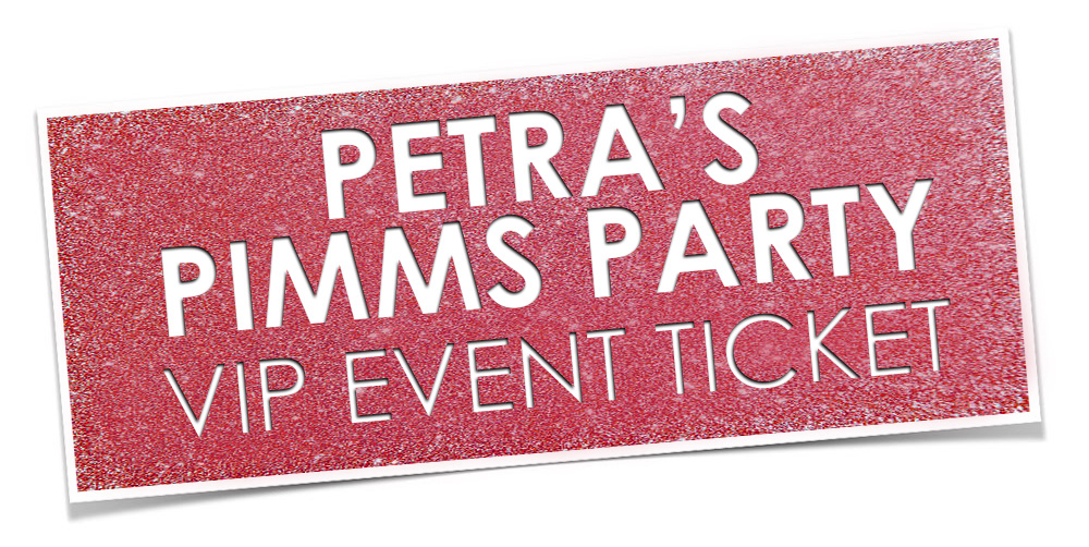 Petra Pimms Party ticket