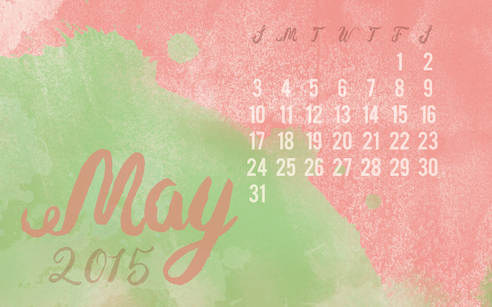 Click  here to download  the May 2015 desktop calendar.