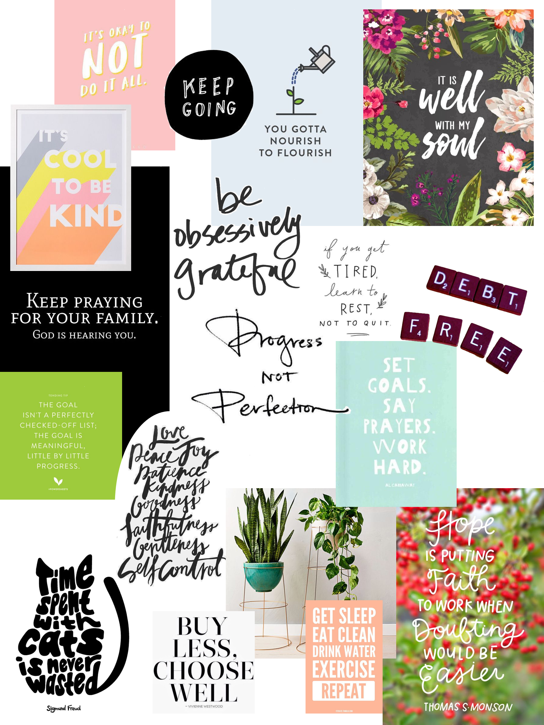 2018 Vision Board - Another great exercise from the PowerSheets planner was creating my 2018 Vision Board. I found all of my images for my board on Pinterest. I hope to look at this vision board for motivation and inspiration throughout the year.
