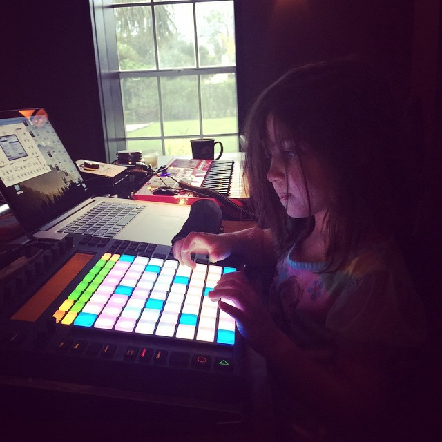Scarlett loves colorful buttons, #Beats #ApletonLive @parklandplayhouse #FutureStars