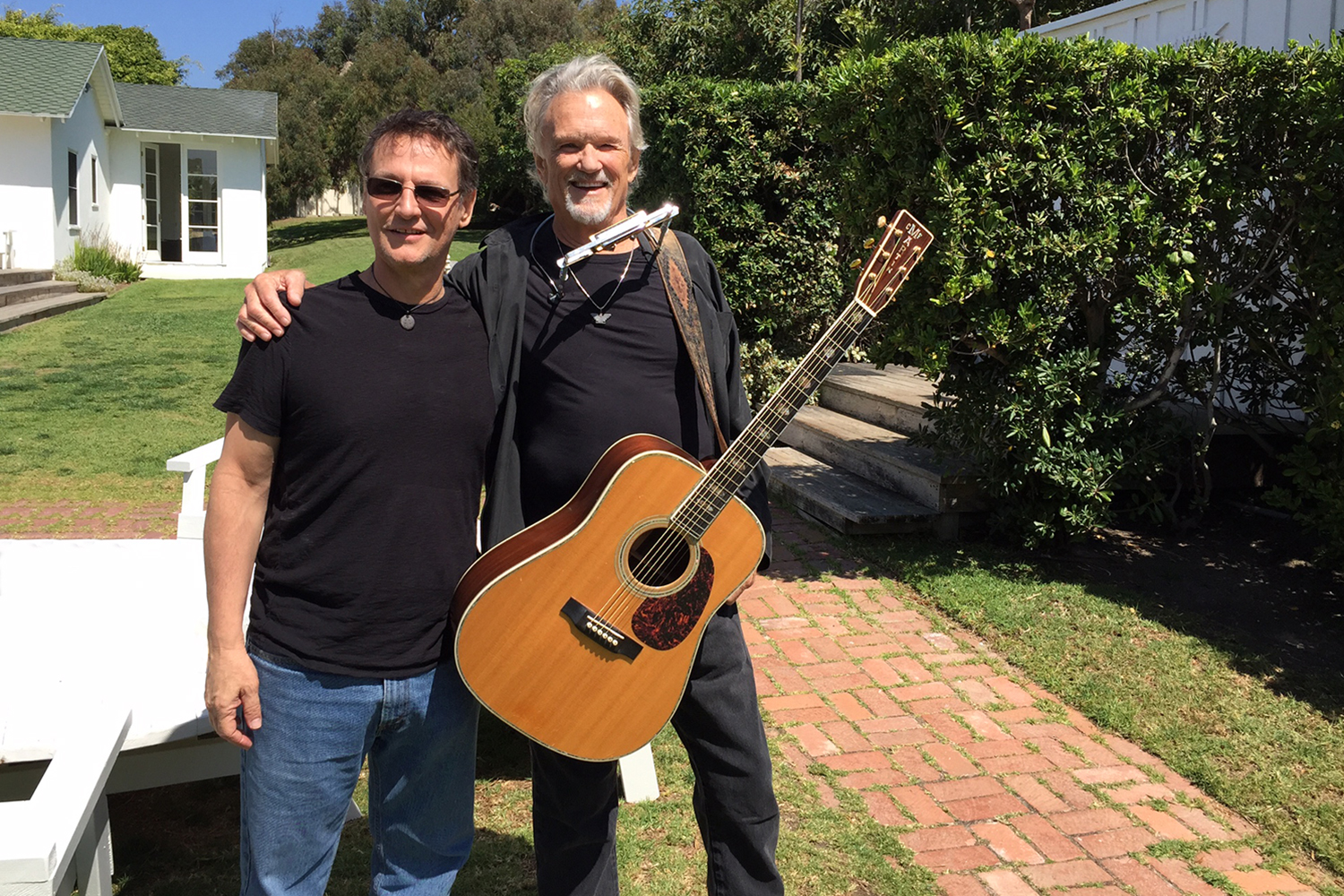 Michael with Kris Kristofferson at Shangri-la Studios in Malibu