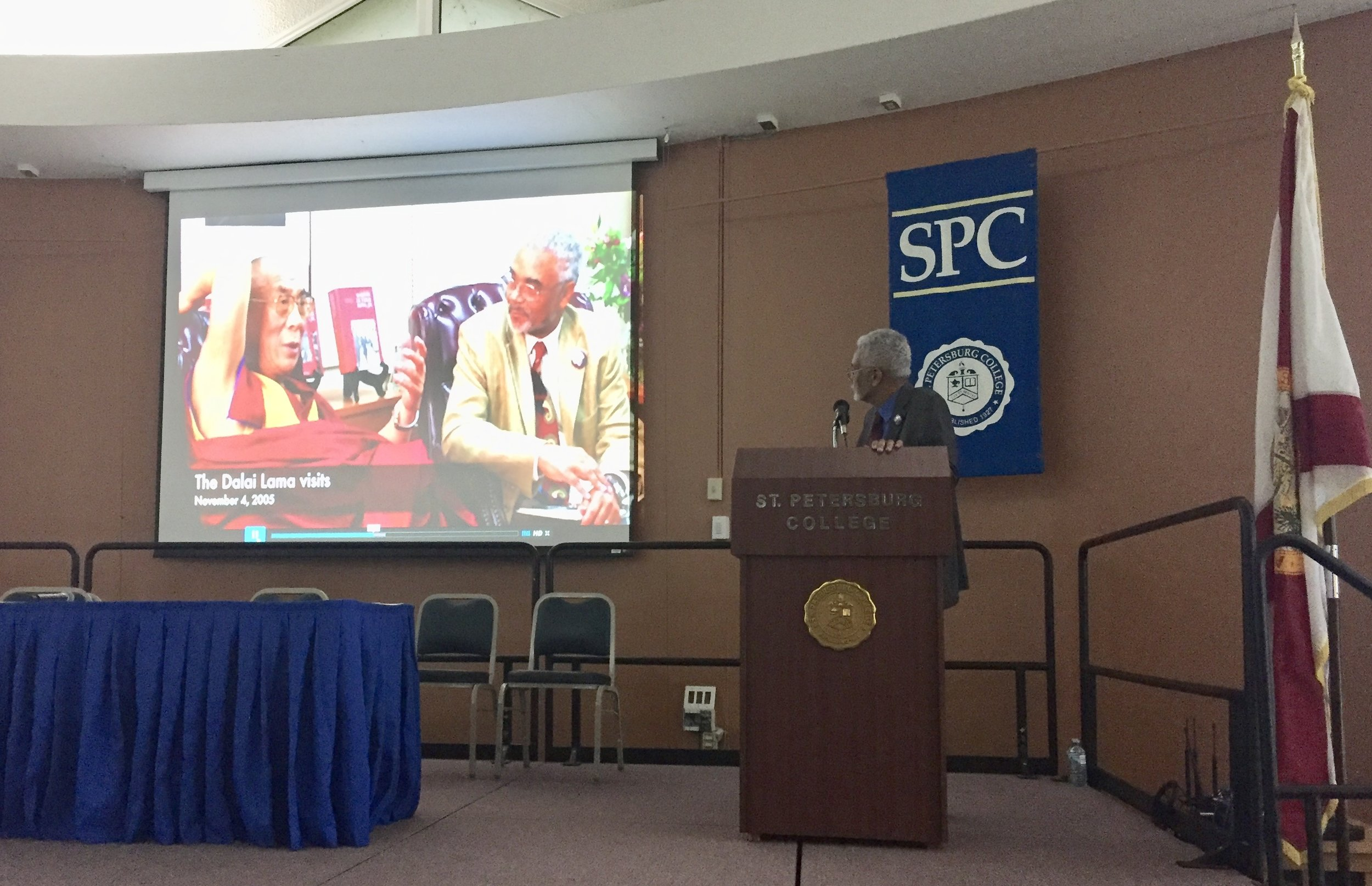 Speaking Events - The first major speaking event sponsored by The Power of Song Inc. featured Stanford University history professor Dr. Clayborne Carson, one of the nation's leading civil rights experts and director of Martin Luther King Research and Education Institute.