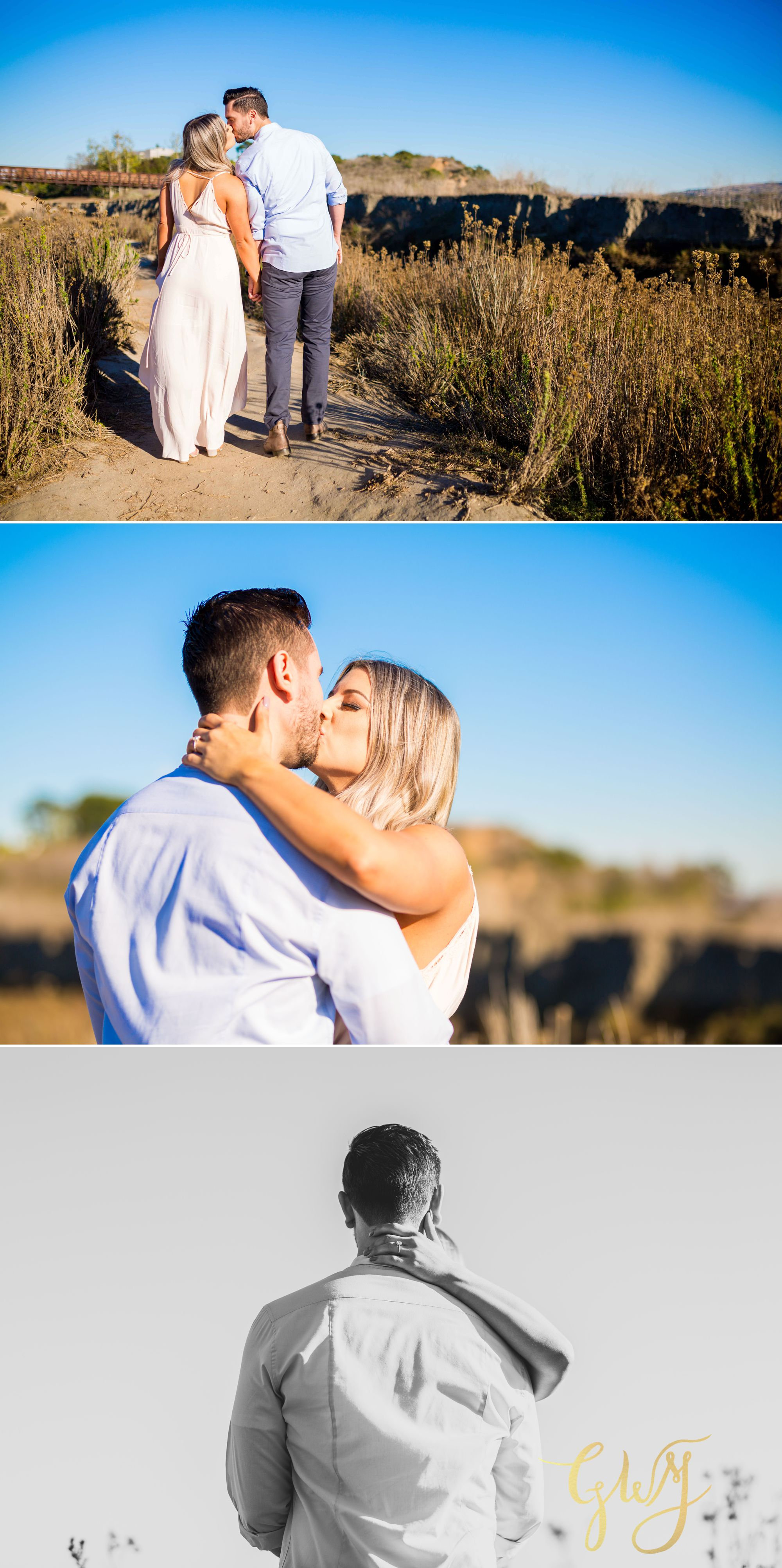 Christien + Crystal Back Bay Newport Crystal Cove Reef Point Sunset Engagement Portrait Session by Glass Woods Media 7.jpg