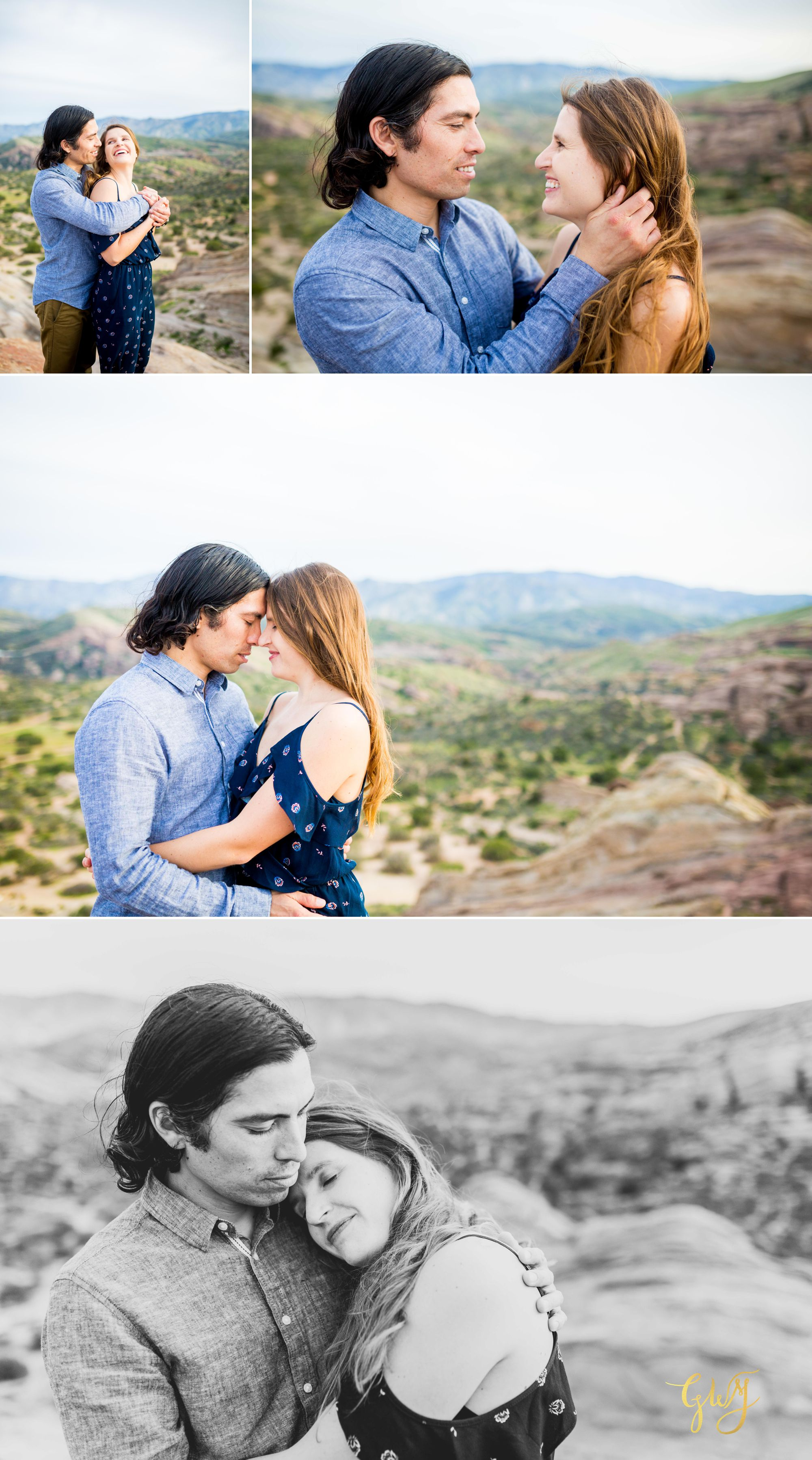 Jose + Sarah Vasquez Rocks Hike at Sunset Adventurous Engagement by Glass Woods Media 12.jpg