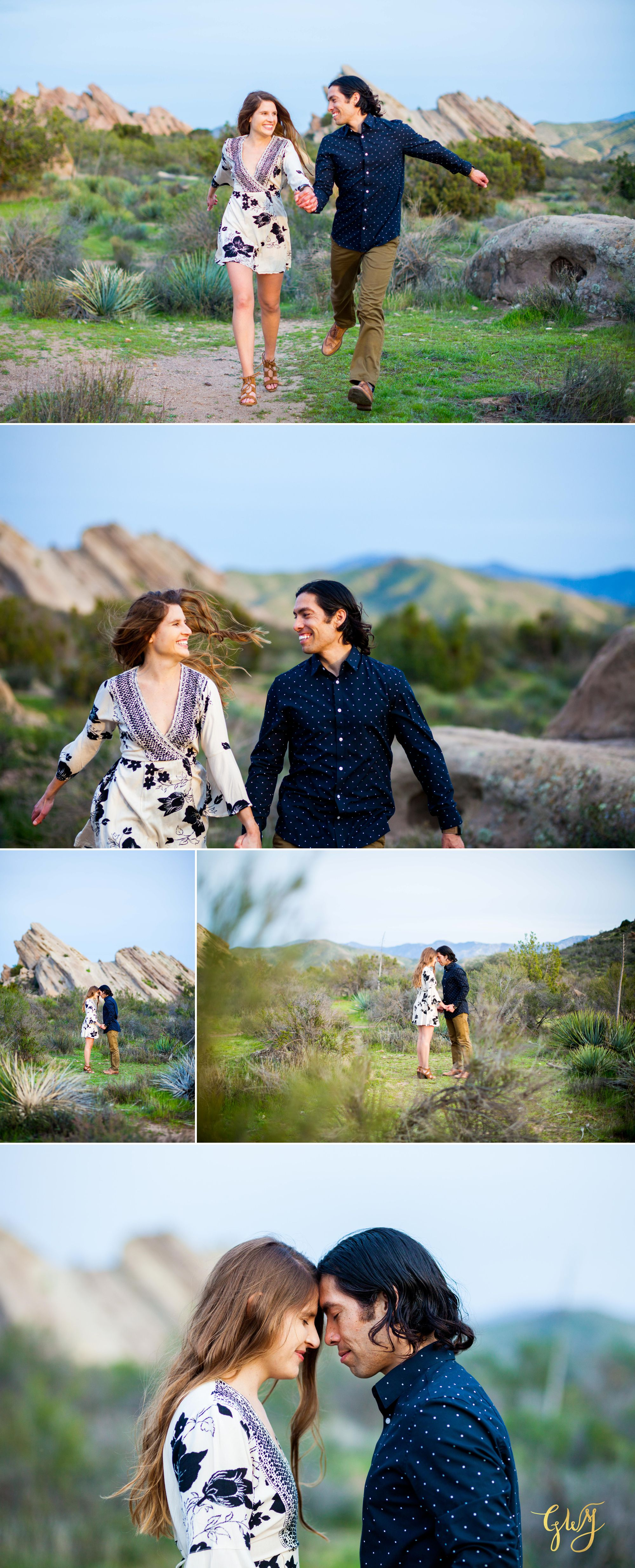 Jose + Sarah Vasquez Rocks Hike at Sunset Adventurous Engagement by Glass Woods Media 16.jpg