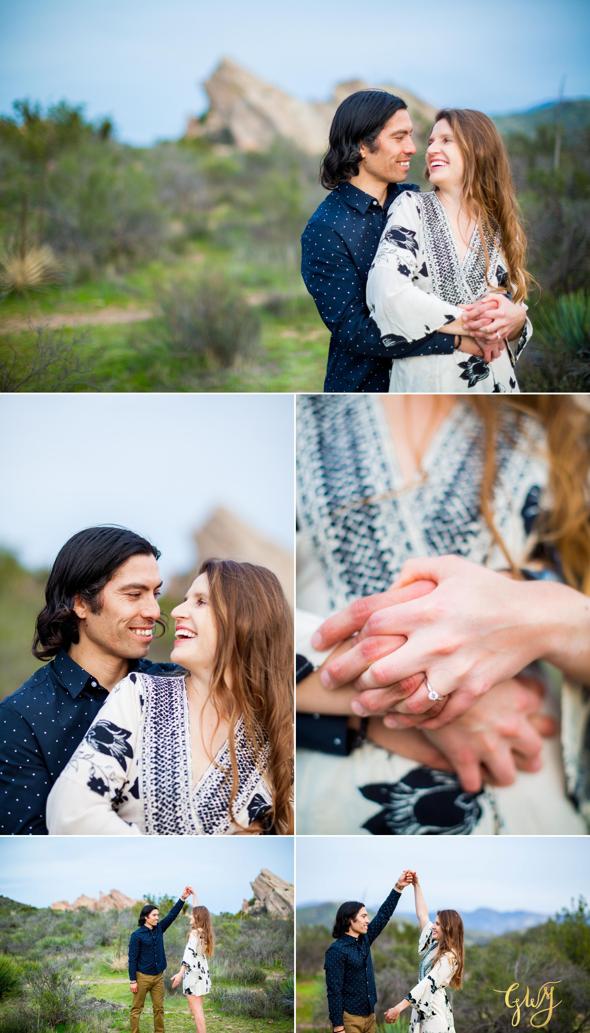 Jose + Sarah Vasquez Rocks Hike at Sunset Adventurous Engagement by Glass Woods Media 17.jpg