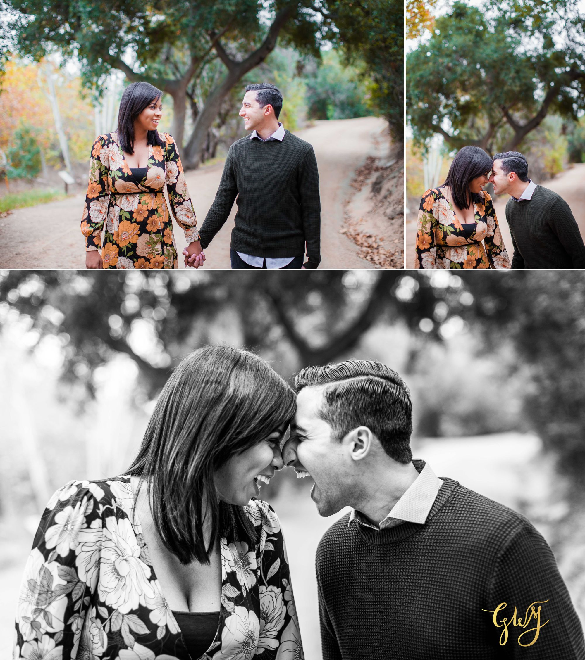 Antonia + Connor Cal State Fullerton CSUF Santiago Oaks Winter Engagement by Glass Woods Media 1.jpg