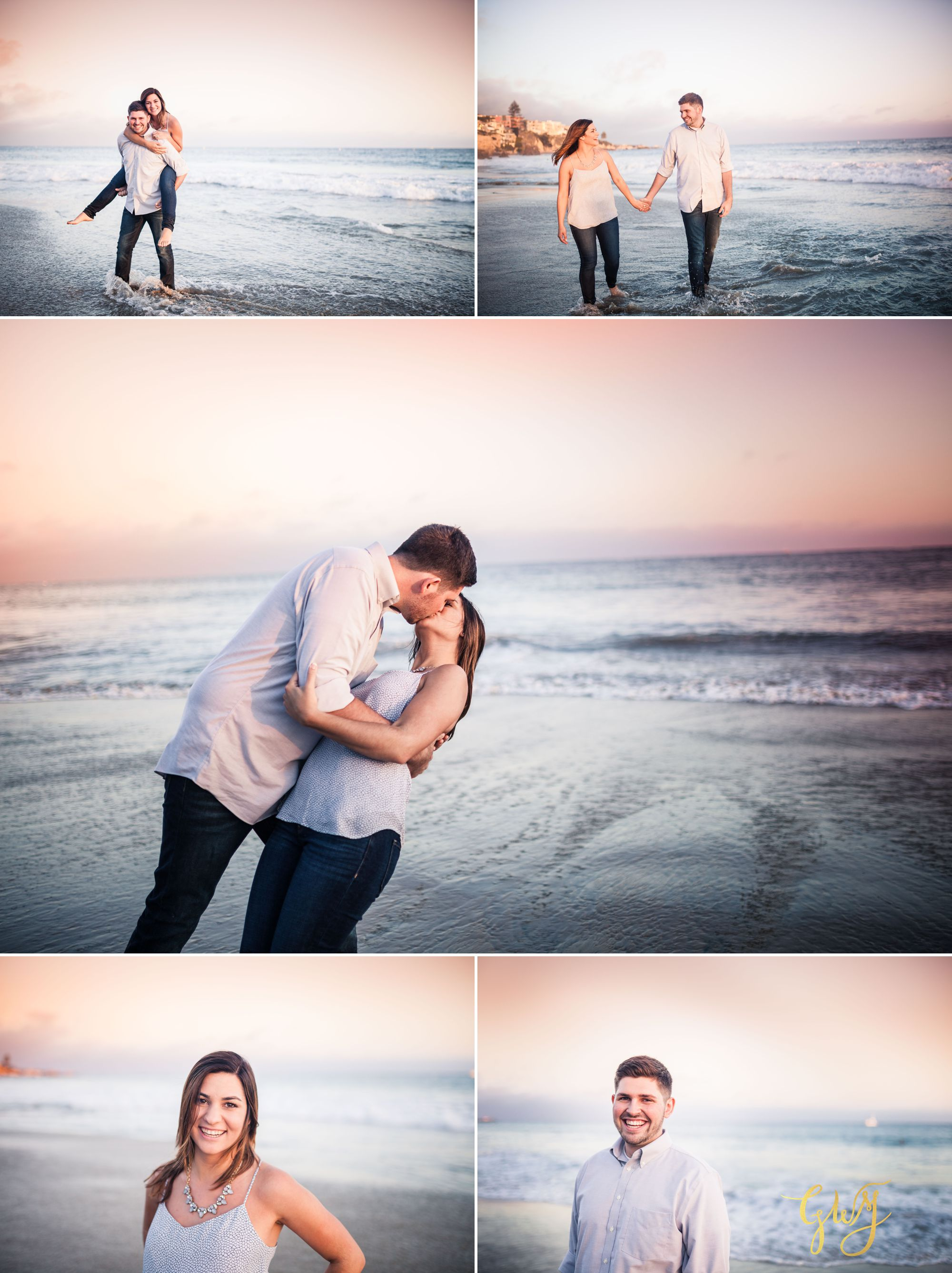 Allison + Jared Oak Canyon Nature Center Corona Del Mar Beach Sunset by Glass Woods Media 13.jpg
